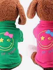 犬用品 - 夏 コットン - Tシャツ - レッド / グリーン - XS / M / S / L