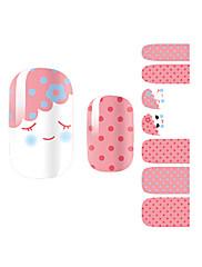 yemannvyou®14pcs láska úsměv módní nail art samolepky