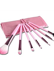 7ks pink makeup kartáč set s růžovou tašku