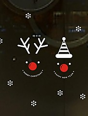 samolepky na zeď Lepicí obrazy na stěnu, vánoční sněhulák domácí výzdoba vitrína okna pvc nástěnné samolepky