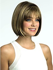 ženy, dáma krátké syntetické vlasy, paruky