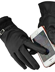 alta calidad de las mujeres puede tocar los guantes de cuero de encaje