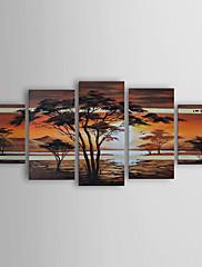 手描き 風景 油絵 中枠付き (5ピースセット) HB-1268