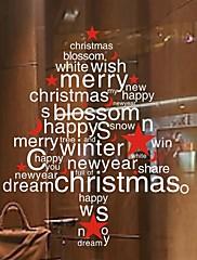 Wall Stickers Lepicí obrazy na stěnu, vánoční strom domácí výzdoba okna pvc nástěnné samolepky