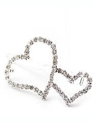 full diamant romantické srdce k srdci vlásenky