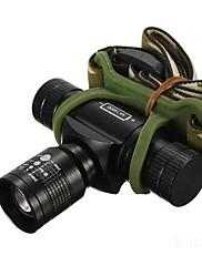 照明 ヘッドランプ LED 350/150/100 ルーメン 3 モード Cree XR-E Q5 14500 単三電池 焦点調整可 防水 充電式 耐衝撃性キャンプ/ハイキング/ケイビング 日常使用 ダイビング/ボーティング 警察/軍隊 サイクリング 狩猟 登山 釣り 旅行