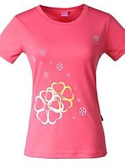 屋外女性のポリエステル100%ムーティ色クイックドライ半袖Tシャツ