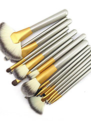 18ks profesionální lesk luxusní zlaté barvy zvládnout perština vlny štětky