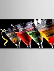 e-HOME® plátně umělecké sklenice na víno dekorace malba