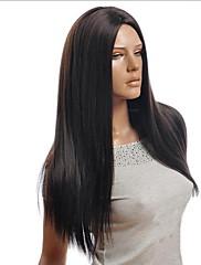 přírodní černé body vysoká teplota hedvábné dlouhé rovné vlasy
