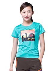 女性用 - 高通気性/速乾性 - キャンピング&ハイキング/フィットネス/レーシング/レジャースポーツ - トップス/Tシャツ ( ダックピンク/オレンジ/スカイブルー ) - 半袖