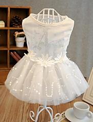 Krásné bílé svatební šaty pro psy