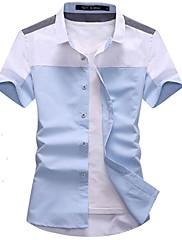 pánská košile s krátkým rukávem v létě
