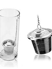 nerezová ocel čaj infuser sítko mikrosítku zamykání koření míč 12x4.2x4cm