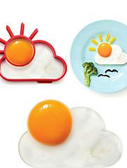 sun cloud tvar vejce kroužek pro snídani, vejce forma vaření nářadí, silikon, L10 * W8 * h1.2cm