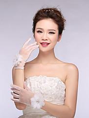 Magnifique gants de mariée avec fleurs perlées
