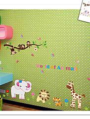 opice tygr lev slon zoo zeď nálepka pro dětský pokoj zooyoo9052 dekorativní odstranitelné pvc Lepicí obraz na stěnu