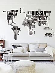 190 cm * 116 cm velká mapa světa samolepky na zeď původní zooyoo95ab dopisy mapa Wall Art ložnice obrazy na stěnu