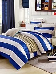 modrý&bílé prostěradlo polštáře peřinu