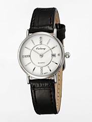 dámská módní hodinky s japonskou originálním pohybem&z pravé kůže pásek kalendář displej disk s diamantem