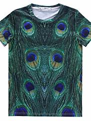 Muška Majica s rukavima Kratkih rukava - Ležerne prilike , Print Mješavina pamuka