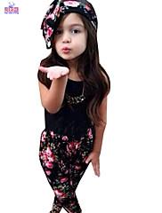 Djevojka je LjetoCvjetni print-Mješavina pamuka-Ljeto-Više boja