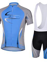 男性用 - 高通気性/絶縁/抗紫外線/透湿性/速乾性/防塵/静電気防止/アンチファズ/wicking/3Dパッド/バクテリア対応/低摩擦 - レジャースポーツ/サイクリング/オートバイ - スーツ ( 画像参照 ) - 半袖