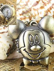 女性用 懐中時計 クォーツ 合金 バンド ビンテージ ブロンズ 青銅色