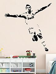 ウォールステッカーウォールステッカースタイルサッカースポーツフィギュアPVCウォールステッカー