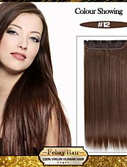 5 klipovi dugo ravno med smeđa (# 12) sintetička kosa isječak u ekstenzija za žene
