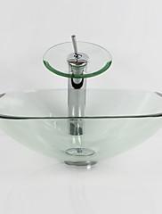現代風 1.2*42*13.5 方形 シンク材質 あります 強化ガラス 洗面ボウル 水栓 取付リング 排水ドレイン