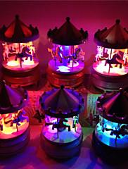 Merry-go-round jízda music box vánoční dárek k narozeninám karusel music box (náhodné hudby)