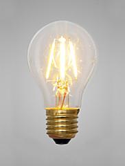 2W E14 / E26/E27 白熱電球 A60(A19) 2 COB 200 lm イエロー 装飾用 交流220から240 V 1個