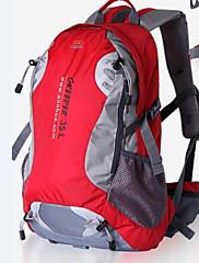 35 L バックパッキング用バックパック / ハイキング用デイパック / サイクリングバックパック キャンピング&ハイキング / 登山 / 旅行 屋外 防水 / 防水ファスナー / 反射ストリップ / 防塵 / 衝撃抵抗 / 耐久性 / 多機能のグリーン / レッド /