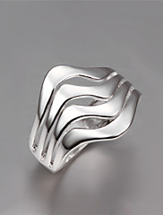指輪 ファッション パーティー ジュエリー 銀メッキ 女性 バンドリング 1個,ワンサイズ ゴールデン