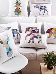 Syntetické / Polyester Polštářový potah , Zvířecí potisk / Grafické tisky Módní a moderní / Zvýraznění / dekorace