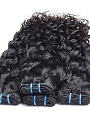 Lidské vlasy Vazby Brazilské vlasy Vlnitá 6 měsíců 3 kusy Vazby na vlasy