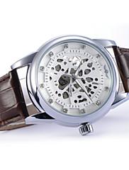 Pánské Náramkové hodinky Automatické natahování Kůže Kapela Černá / Hnědá Značka-