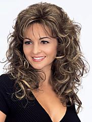 最高品質のファッションミドル長い波状のかつら女性の合成かつらの毛