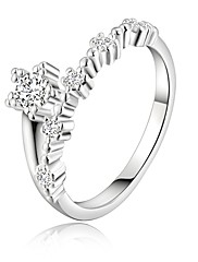 指輪 結婚式 / パーティー / 日常 / カジュアル ジュエリー 銀メッキ 女性 ステートメントリング 1個,8 シルバー