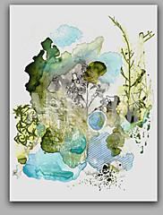 Ručně malované Abstraktní Vertikální Panoramic,Styl Jeden panel Plátno Hang-malované olejomalba For Home dekorace