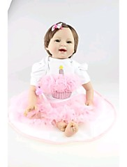 npkdoll生まれ変わった赤ちゃん人形柔らかいシリコーン22inchの55センチメートル磁気口リアルなかわいい男の子の女の子のおもちゃのプリンセスピンクの長い髪