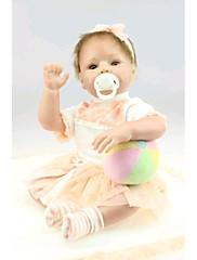 npkdoll生まれ変わった赤ちゃん人形柔らかいシリコーン22inchの55センチメートル磁気口美しいリアルなかわいい男の子の女の子のおもちゃ大きな目オレンジ