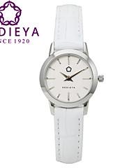 Dámské Módní hodinky Křemenný Japonské Quartz Voděodolné Kůže Kapela Bílá Značka KEDIEYA