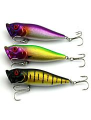"""3 個 ルアー ポッパー ランダム色 グラム/オンス,90 mm/3-1/2"""" インチ,硬質プラスチック 海釣り 川釣り バス釣り ルアー釣り 一般的な釣り"""