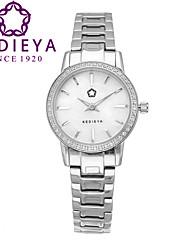 Dámské Módní hodinky Křemenný Japonské Quartz Voděodolné Nerez Kapela Stříbro Značka KEDIEYA