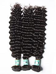 Lidské vlasy Vazby Brazilské vlasy Velké vlny 18 měsíců 3 kusy Vazby na vlasy