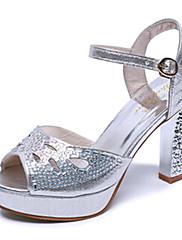 Ženske cipele-Sandale / Salonke / štikle-Vjenčanje / Formalne prilike / Ležerne prilike / Zabava i večer-PU-Kockasta potpetica-Štikle-