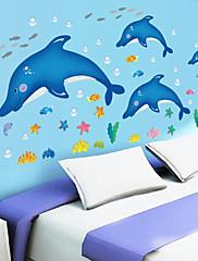 Zvířata / Komiks / Zátiší / Módní / Volný čas Samolepky na zeď Samolepky na stěnu,PVC 90*60*0.1