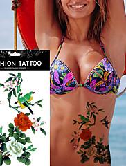 女性のボディアートセクシーなメイクアップツールのクリニーク花鳥のデカール防水一時的な入れ墨のステッカー
